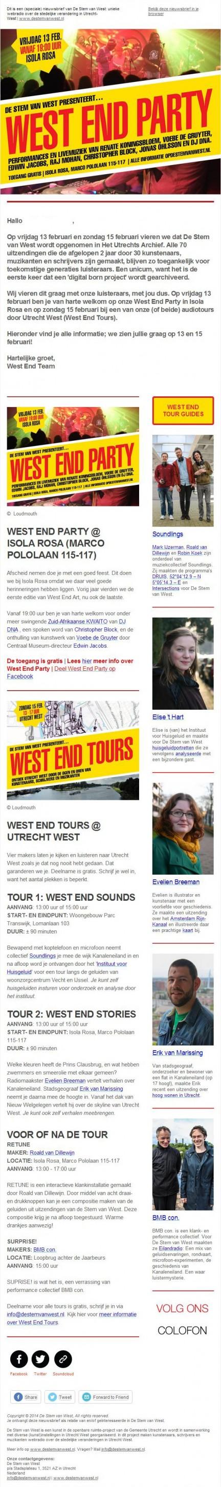 nieuwsbrief 21 - uitnodiging west end tours & party 13 en 15 feb 2015