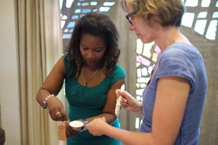 workshop papier kauwen- Gabriel en Voebe