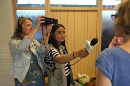 workshop papieren plafndornamenten kauwen-U in de Wijk